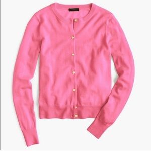 J.Crew Pink Jackie Classic Merino Wool Cardigan